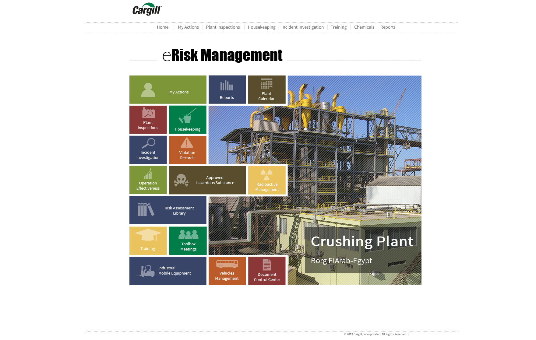 Cargill Homepage screenshot