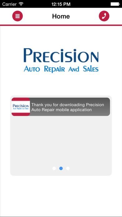 precision auto news feed screen