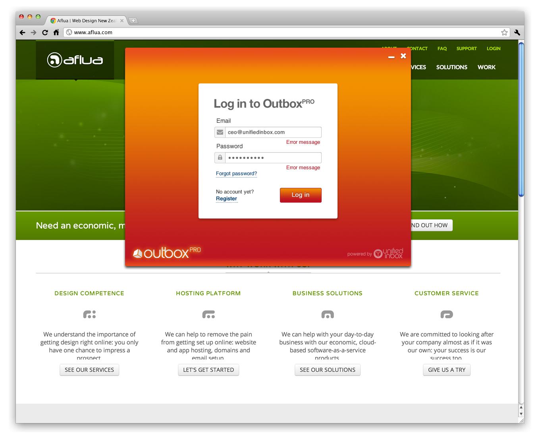 outbox pro UI screenshot 1