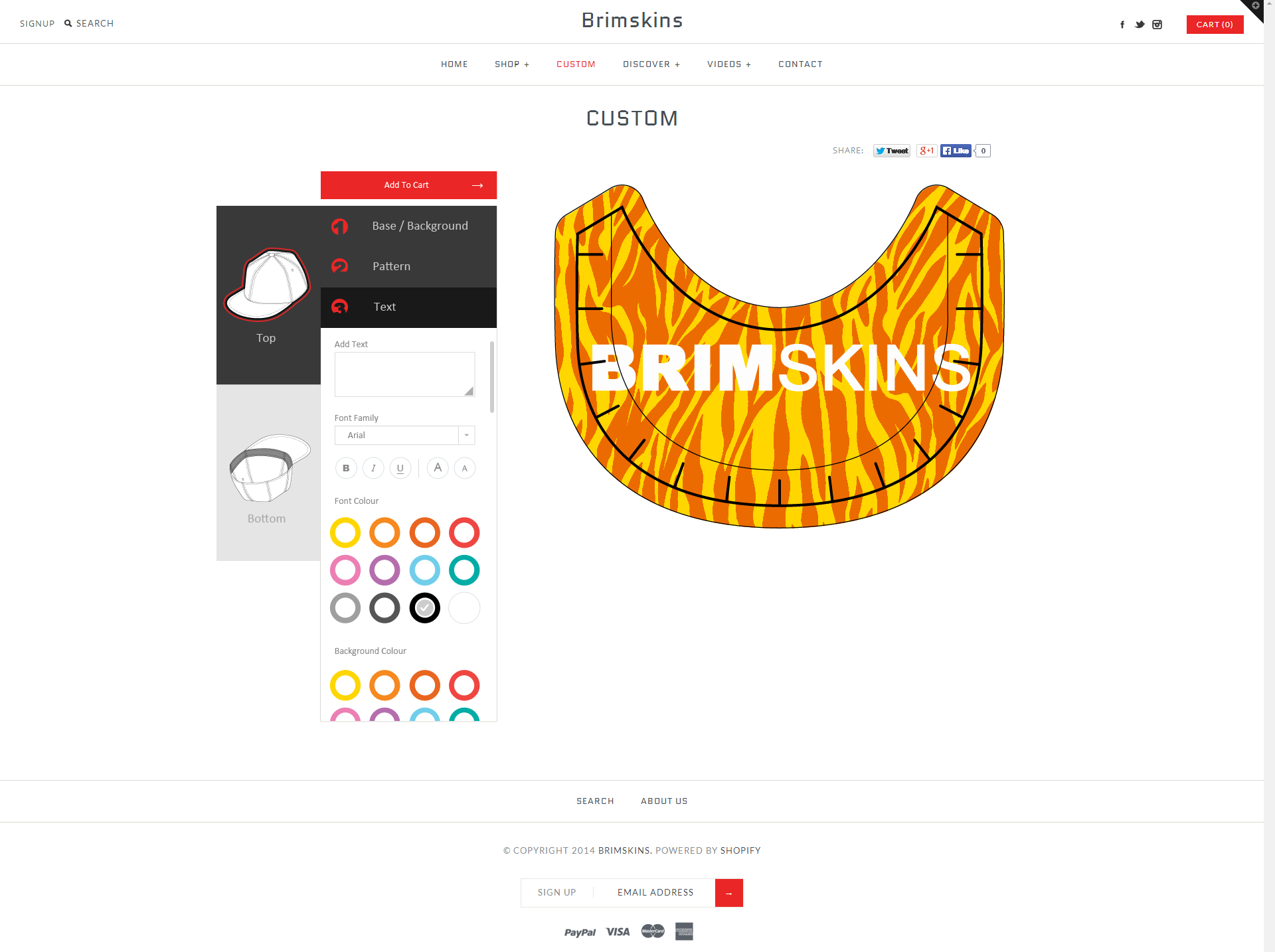Brimskin UI screenshot 4
