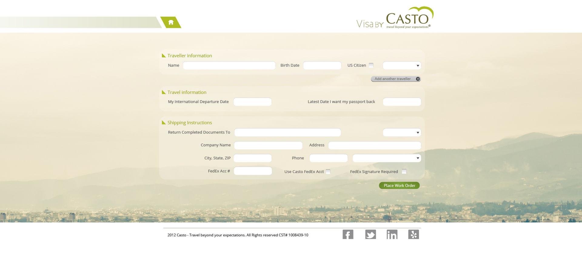 Visa by visa by casto home screenshot