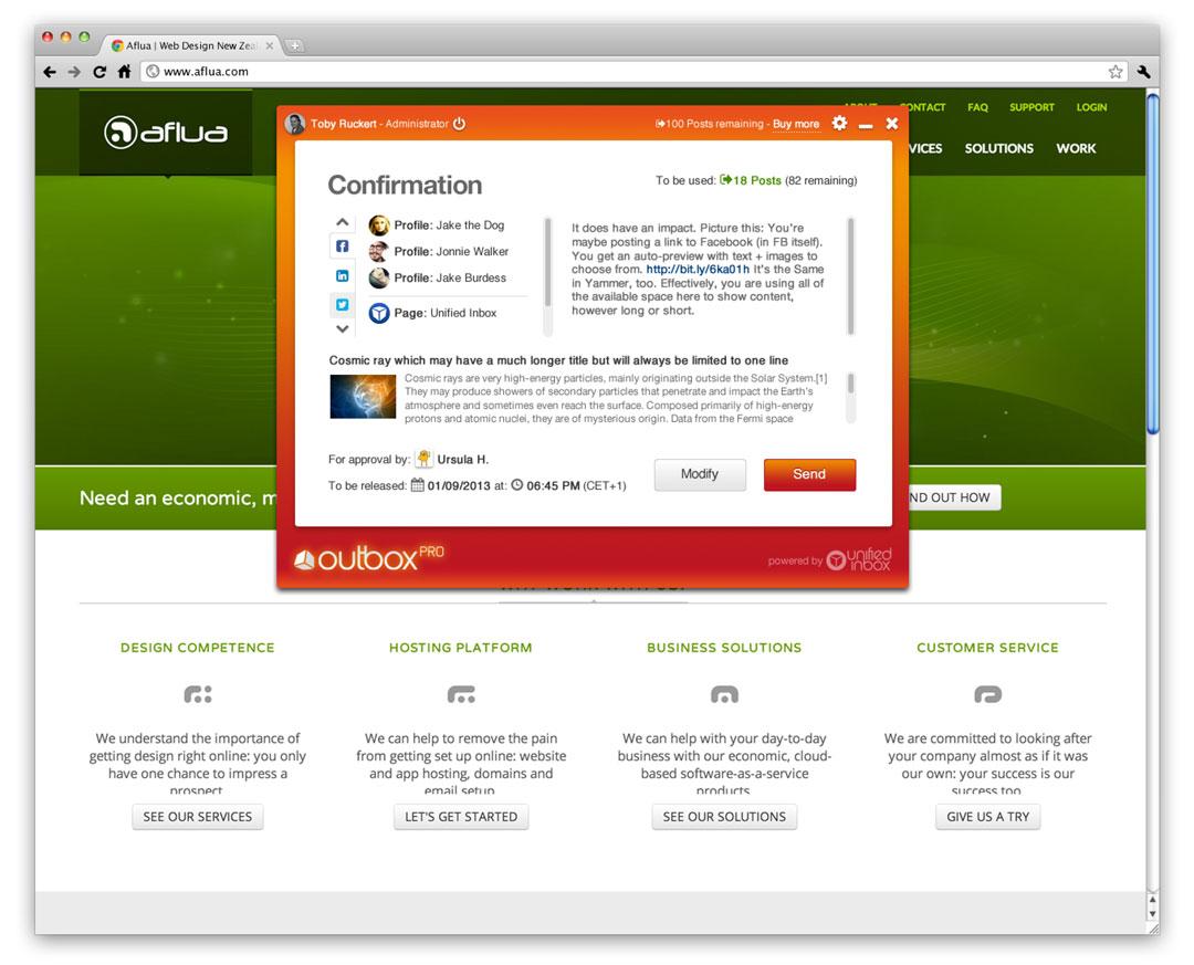 outbox pro UI screenshot 5