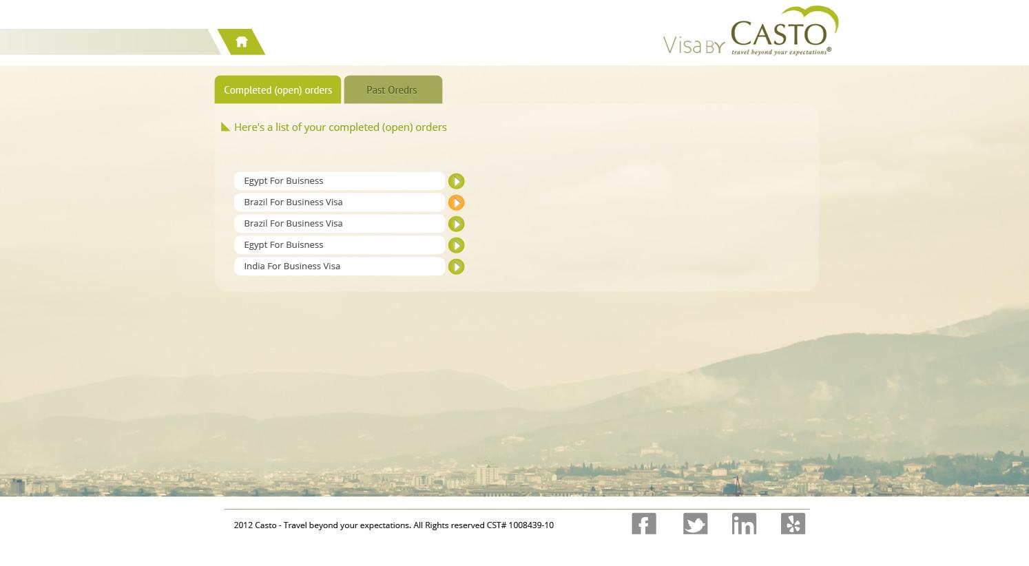 Visa by visa by casto user dashboard screenshot 1