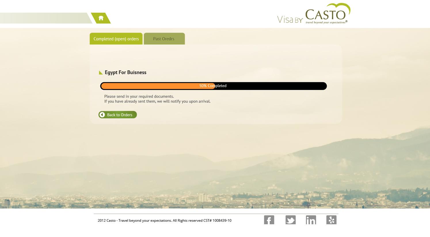 Visa by visa by casto user dashboard screenshot 2