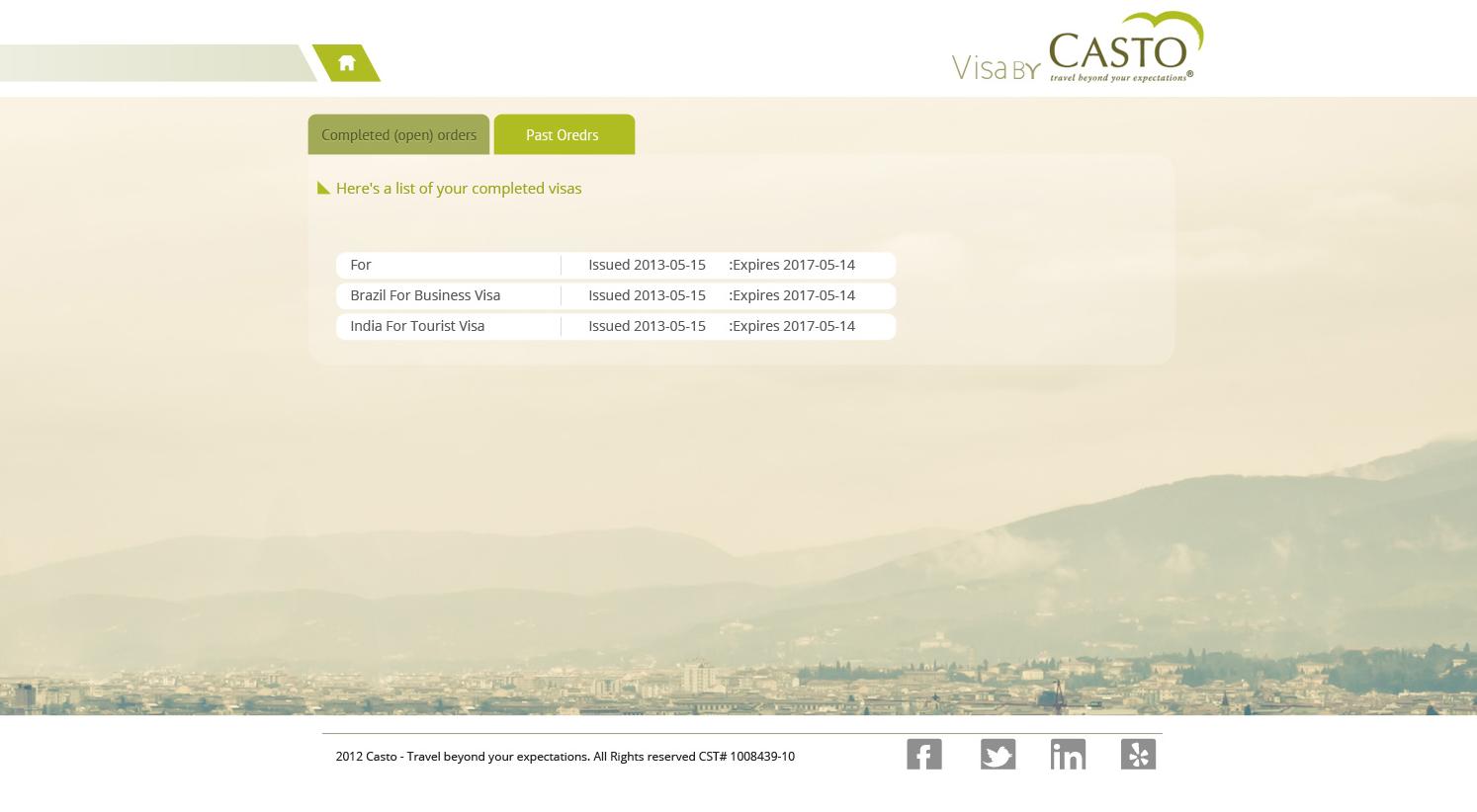 Visa by visa by casto user dashboard screenshot 3
