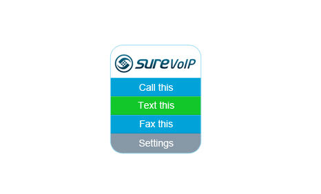 sure voip menu screen